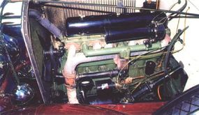 The Series 40 Phaeton featured a small overhead-valve six engine with 80.5 horsepower.
