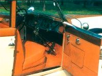 The interior of this Duesenberg was luxurious.