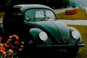 Nazi leader Adolf Hitler named the Volkswagen KdF-Wagen after a German Labor Front motto meaning Strength Through Joy.