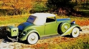 Two steps were provided to get to the 1934 Graham Blue Streak Model 67's rumble seat: one on the bumper, the other just above the taillight. Needless to say, such maneuvers were for the young.