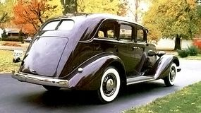 This Richmond Maroon example of the 1935 Graham Blue Streak Model 73 Special Six Touring Sedan boasted a built-in trunk.