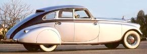 """Pierce-Arrow dubbed the Silver Arrow """"The car of of 1940 -- in 1933."""" See more classic car pictures."""
