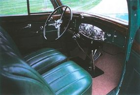 Seats and interior door panels were covered in leather.