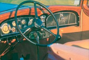 The elegant V-16 Convertible Victoria had a well-appointed interior.