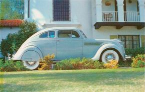 The Series C1 was the least costly of the 1935 Airflows. Of the three models offered, all priced at $1,245, the four-door sedan accounted for over 90 percent of sales.