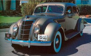 The Series C1 Airflow four-door sedan was selected by 4,617 buyers in 1935. It rode a 123-inch wheelbase and came with Chrysler's least powerful version of the 323.5-cid straight eight: 115 bhp. An optional high-compression head boosted output to bhp. See more classic car pictures.
