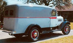 Putting quality ahead of quantity, Stewart was never a large-scale producer. The 1936 one-ton panel truck had power enough for highway speeds of the day .