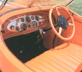A Sun-Glow orange color graced the leather interior.