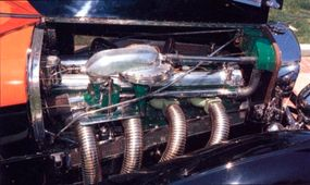 The supercharged 320-horsepower engine topped out at 140 mph.