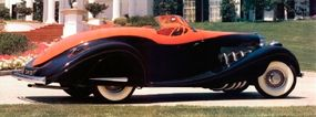 The Sun-Glow orange color started at the hood ornament and flowed all the way back along the car.