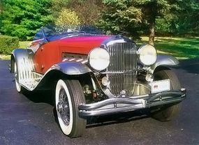 A lightweight open-roadster body distinguished the rare 1936 Duesenberg SSJ Speedster.