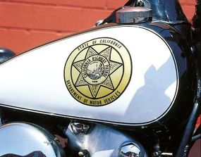 The EL proudly wears its California Highway Patrol badge.