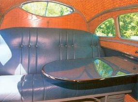 A large fold down table was featured in the 1936 Stout Scarab.