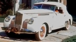 The 1941 One Eighty Convertible Victoria rode the 127-inch wheelbase and retailed for $4595.
