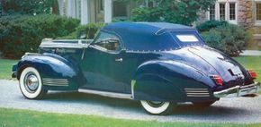 The 1942 Packard Darrin was virtually identical to the 1941 Convertible Victoria shown here.