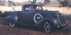The beautiful 1937 Studebaker Coupe-Express combined a coupe cabin and an open cargo bed, predicting the car-pickup category by decades. See more classic truck pictures.