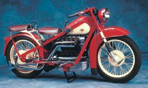 The 1937 Nimbus Luxus was representative of a Danish line of solidly built motorcycles in production for nearly 40 years. See more motorcycle pictures.