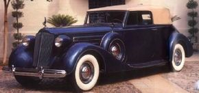 This 1937 Packard 1507 is a Convertible Victoria by Dietrich. It delighted dealers and car-buyers alike. See more classic car pictures.