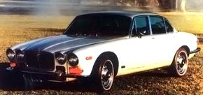 Before U.S. bumper regulations the XJ6 wore a taller grille.