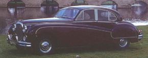 The post-war Mark VIII boasted 210 horsepower and a luxurious interior. See more classic car pictures.
