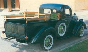 Long offered on most competitors, hydraulic brakes were a new addition to 1939 Ford trucks, including this 1939 Ford pickup.