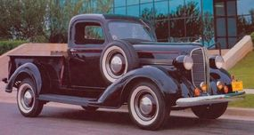 Dodge's 1936 redo of its successful 1933-1935 styling would last through 1938, as shown in this 1938 Dodge RC pickup.