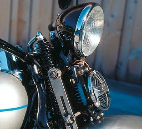 New colors and striping were made available in the 1938 Harley-Davidson UL.
