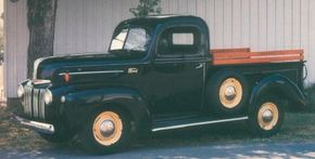 Looking less car-like than its predecessors, the 1942-1947 Ford half-ton pickup had a stronger frame and a more modern suspension and driveline. See more classic truck pictures.