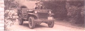 The Willys MA differed from the Quad in many ways, including lower, rounded door cutouts, single piece wheels, and a handbrake on the left.