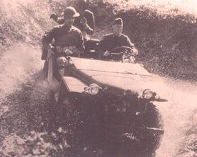 The first Bantam jeep was tested at Camp Ripley and Camp Holabird.