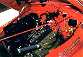 The Cadillac Custom convertible featured a stock 135-horsepower, 346-cubic-inch V-8.