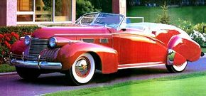 The 1940 Cadillac Custom convertible styling was steps above the Series Sixty-One. See more classic car pictures.
