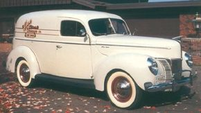 Ford's classic 1940 car styling translated well to the car-based 1940 Ford Deluxe Sedan Delivery. See more classic truck pictures.
