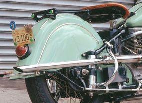 Skirted fenders helped streamline the 440's look.