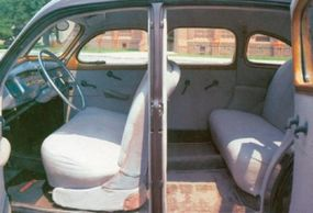 There was plenty of leg room available for passengers in the back seat.