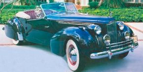The Packard Darrin One-Eighty Convertible replaced the V-12 for the 1940 model year. See more classic car pictures.