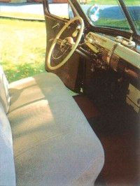The dashboard of the 1941 Ford Super DeLuxe sported a lot of plastic trim.