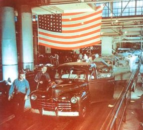 Ford got postwar production underway on July 3, 1945, the first automaker to do so.