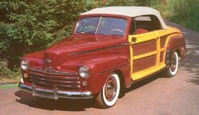 Ford's only new early postwar model was the Sportsman, a woody convertible designed to bring prospective buyers into Ford dealer showrooms.