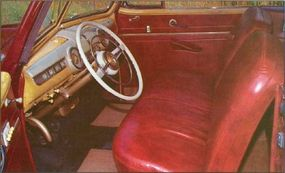 The interior of the Sportsman carried the woody theme.