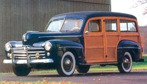 The 1947-1948 Ford Super DeLuxe station wagon sold for $1,972, far cheaper than the Sportsman, and achieved sales of 16,104 and 8,912 during the two model years.