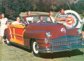 The Chrysler Town & Country convertible was a glamorous, popular model.