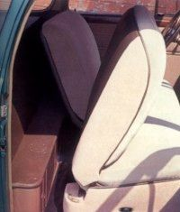 The backseats flipped forward for extra storage space.