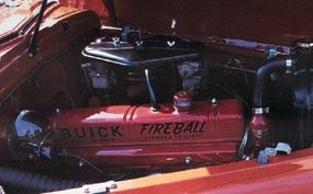 The Buick Super convertible was powered by a straight-eight 'Fireball' engine.