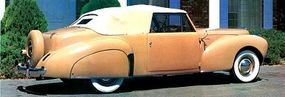 The 1941 Lincoln Continental had such European features as long hoods and fenders.