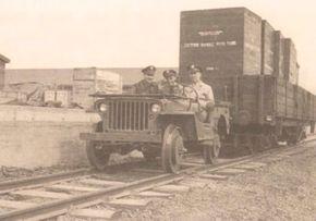 Some jeeps saw duty as railyard locomotives.