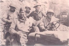 Generals never rode in the back of the jeep because the front seat had more room and offered a much better ride.