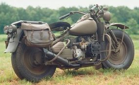 In a big departure for Harleys of the day, the XA was equipped with a horizontally opposed twin-cylinder engine and shaft drive.