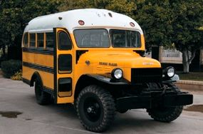 Sometimes the cargo a Power Wagon was asked to carry was a precious one -- schoolchildren -- as this bus body mounted on a 1950 chassis shows.