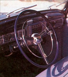 The straight-eight engine of the Continental put out 135 horsepower.